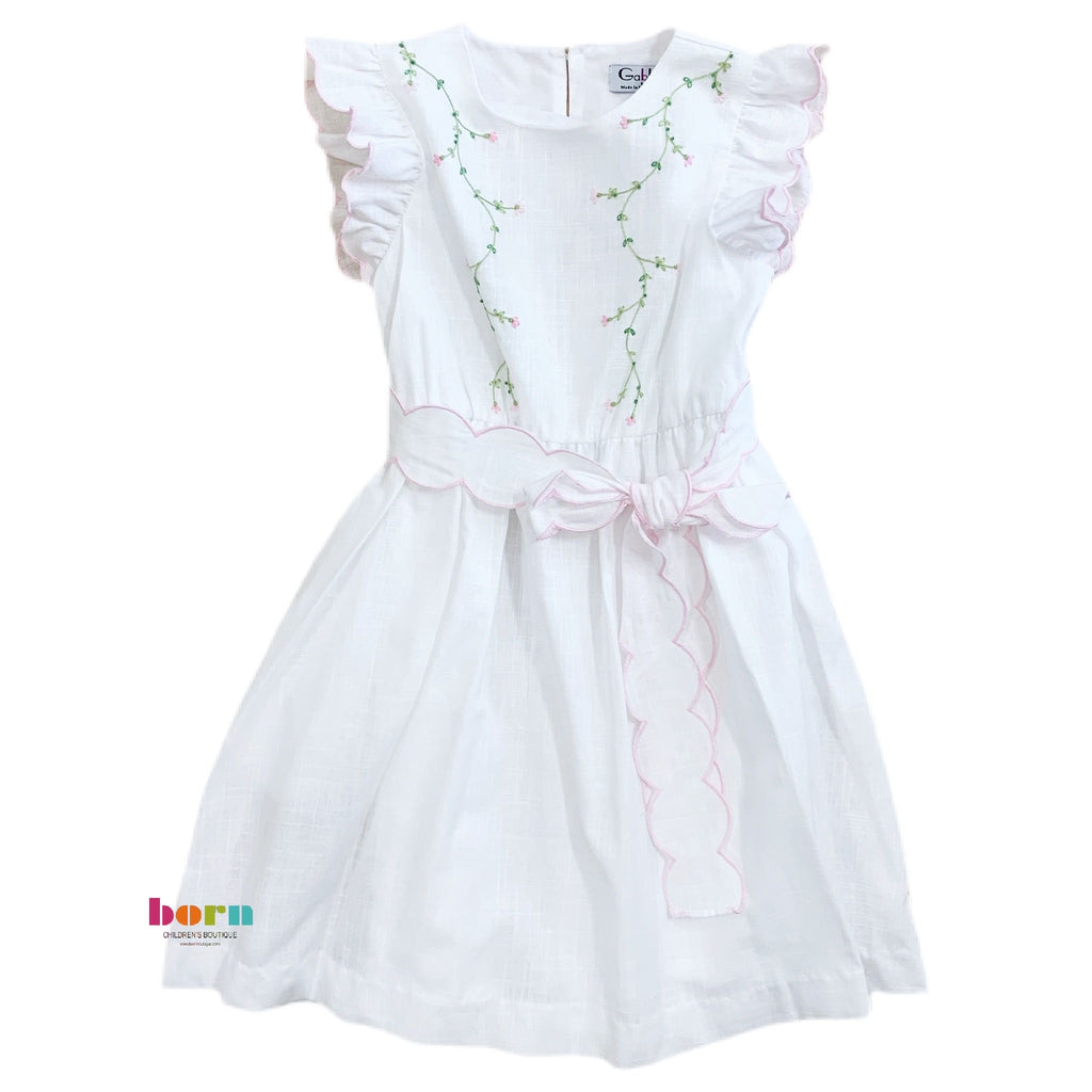 Summer White Tea Dress - Born Childrens Boutique