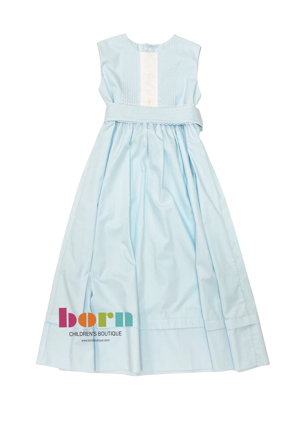 Heirloom Sleeveless Robins Egg Blue Dress - Born Childrens Boutique