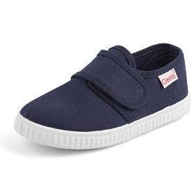 Cienta Kids Single Velcro Strap Navy