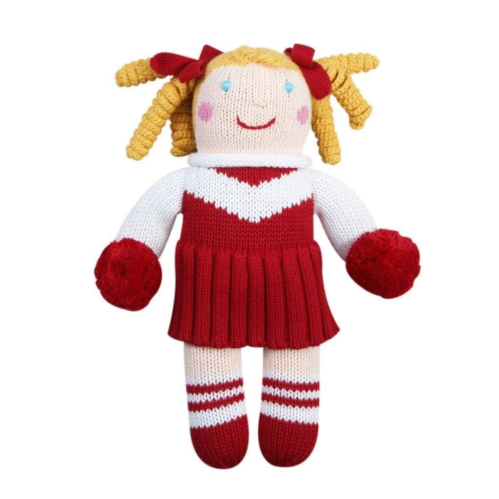 Red and White Cheerleader Doll 7 inches - Born Childrens Boutique