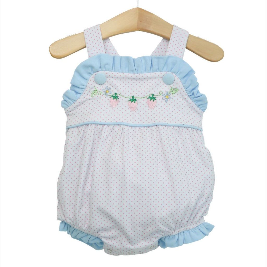 Strawberry Bitty Dot Bubble Girls - Born Childrens Boutique