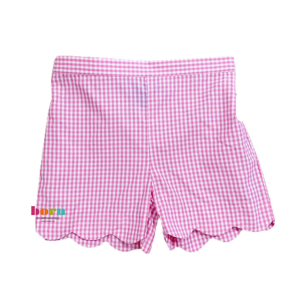 Girl Shorts - Pink Gingham - Born Childrens Boutique