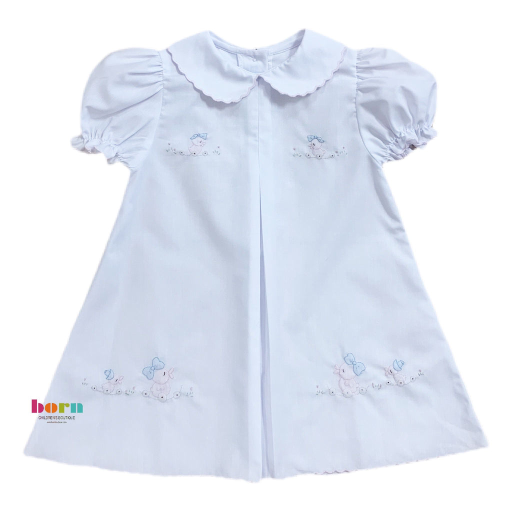 Baby Dress, Pink Ducks - Born Childrens Boutique