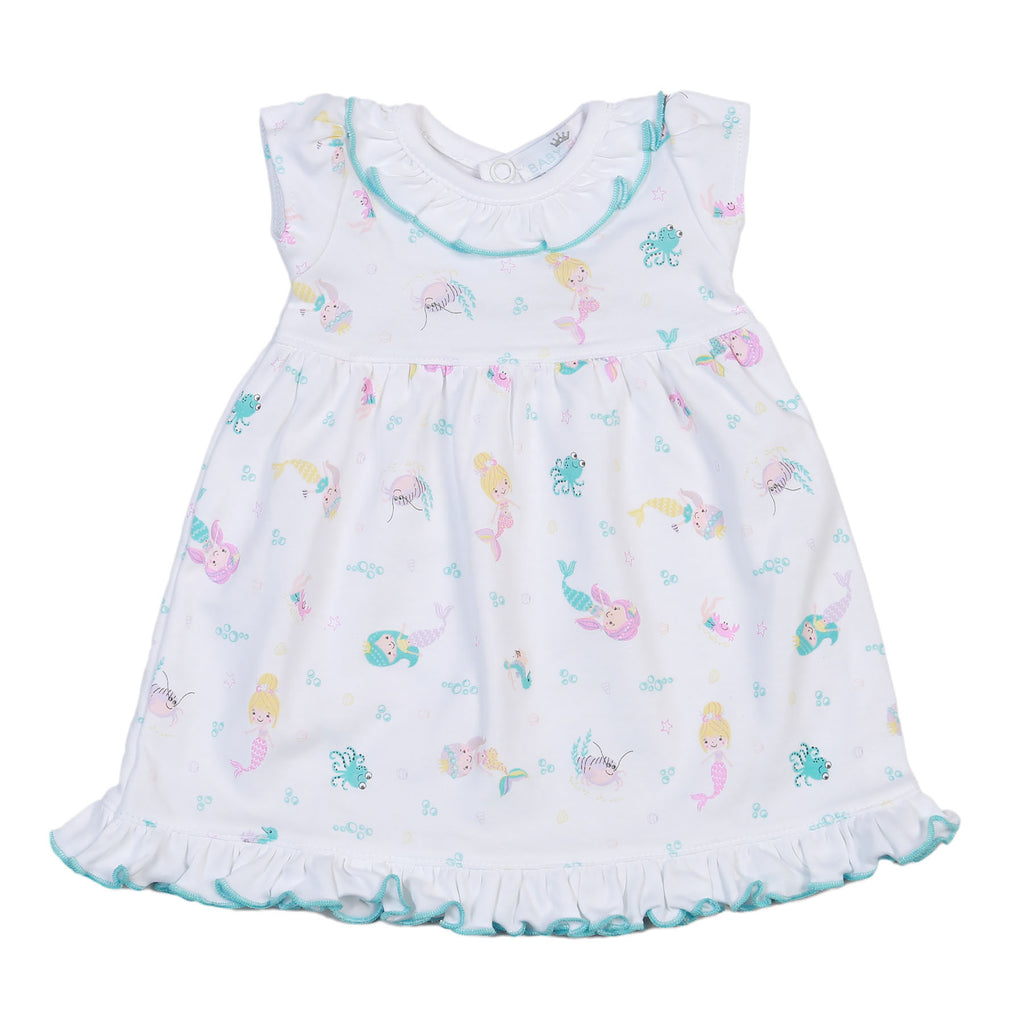 Mermaid And Sea Friends Pima Doll Nightgown - Born Childrens Boutique