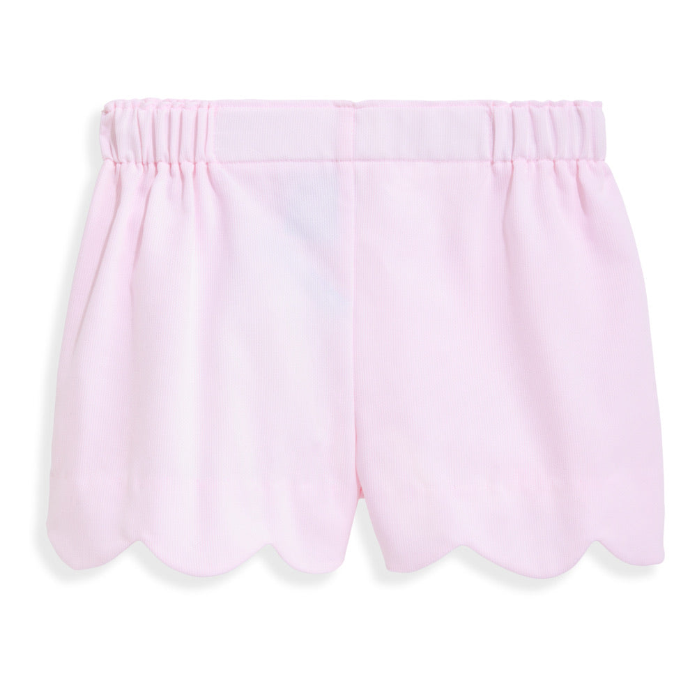 Heart Pocket Short - Pink Pique - Born Childrens Boutique