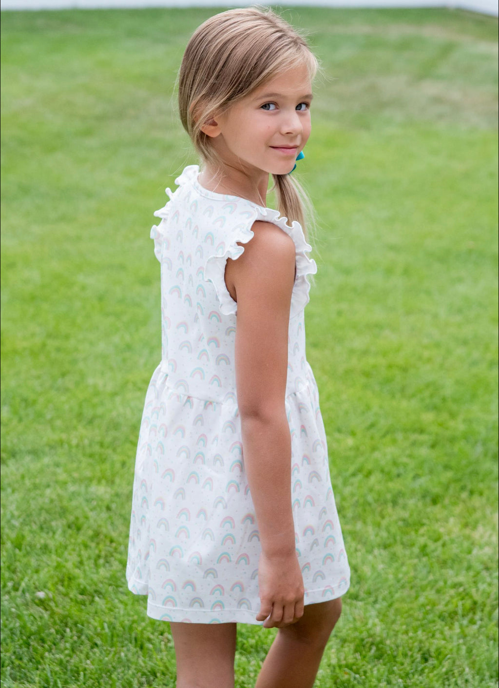 Pre-Order Rosemary Knit Dress - Rainbow - Born Childrens Boutique