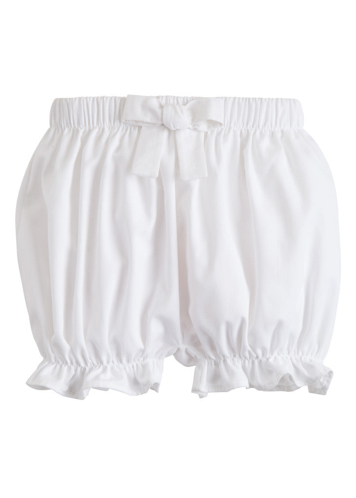 Twill Bow Bloomer - White