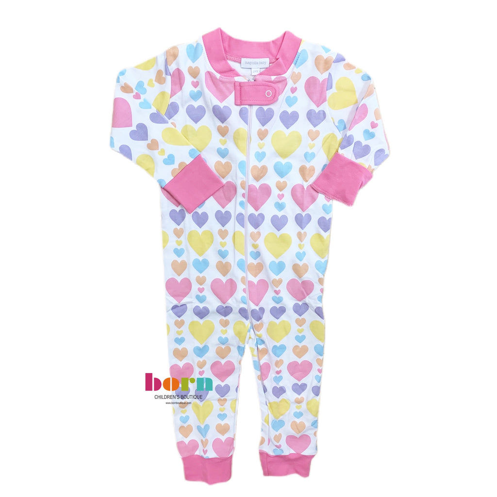 My Heart Zipped Pajama PK - Born Childrens Boutique