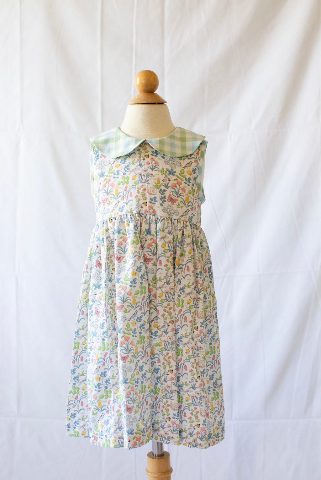 Sleeveless Liza Dress - Greenville Garden - Born Childrens Boutique