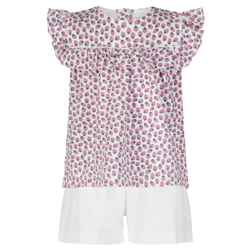 Pre-Order Penelope Short Set - Strawberry Fields - Born Childrens Boutique