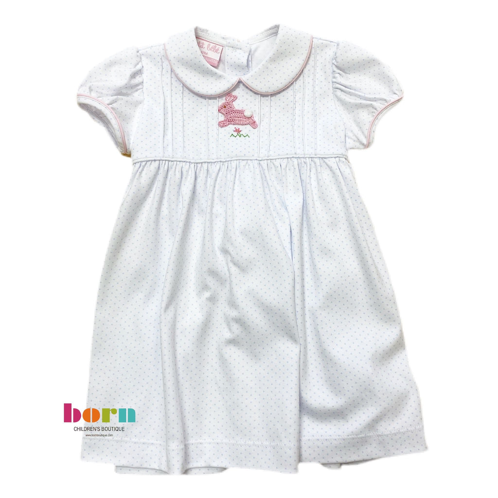 Hop Hop - Dress w/Collar - Born Childrens Boutique