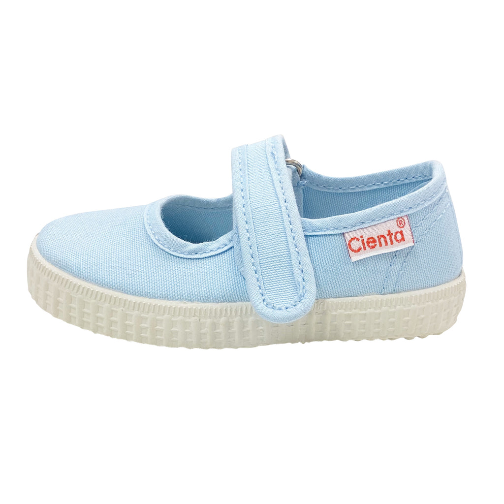 Cienta Kids Mary Jane Light Blue - Born Childrens Boutique