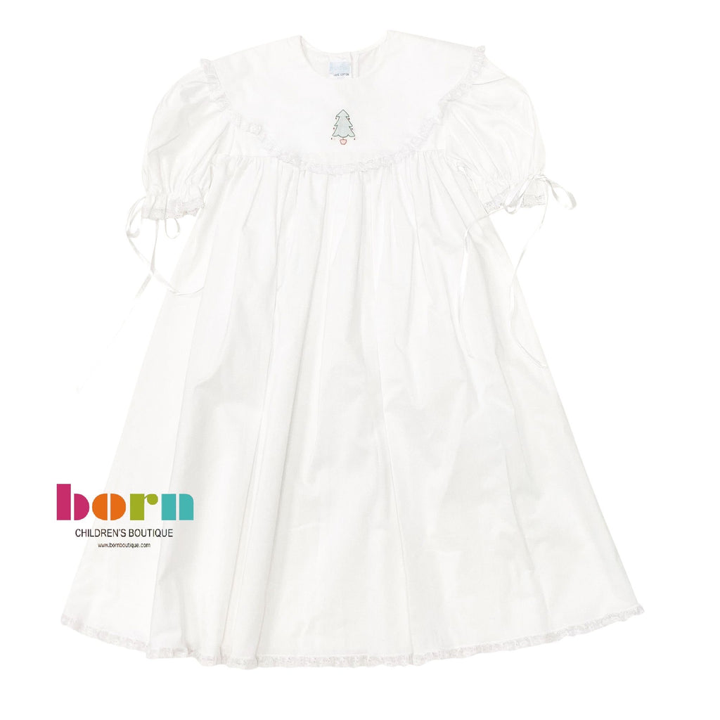 Heirloom Dress White with Tree - Born Childrens Boutique