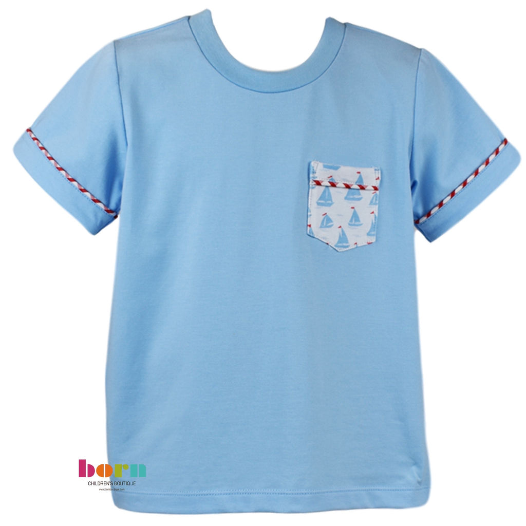 Charlie Shirt - Blue - Anchors Aweigh - Born Childrens Boutique