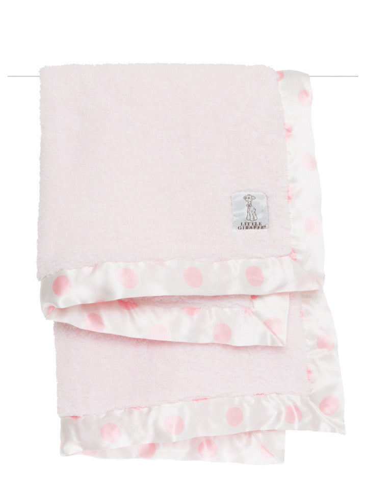 Chenille New Dot Satin Pink Blanket
