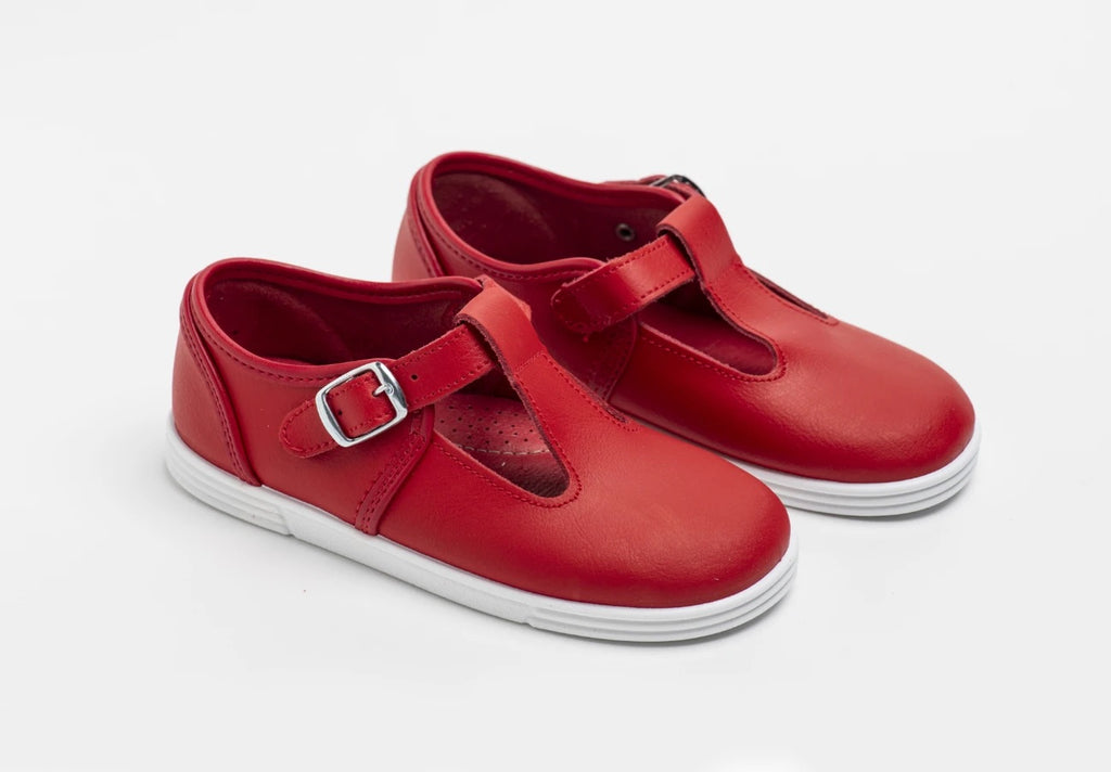 Andy Shoe Red Leather - Born Childrens Boutique