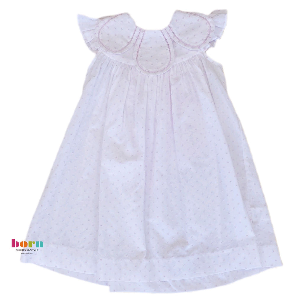 Pink Dot Petal Float Dress - Born Childrens Boutique