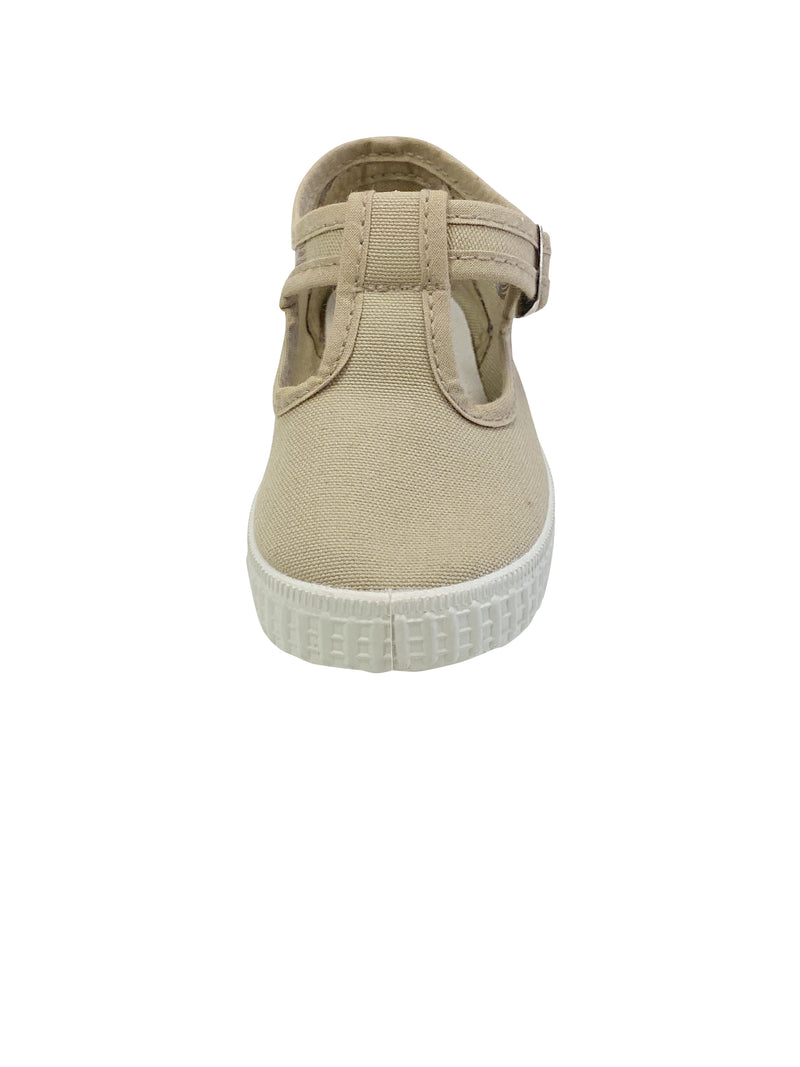 Cienta Kids T-Strap Tan - Born Childrens Boutique