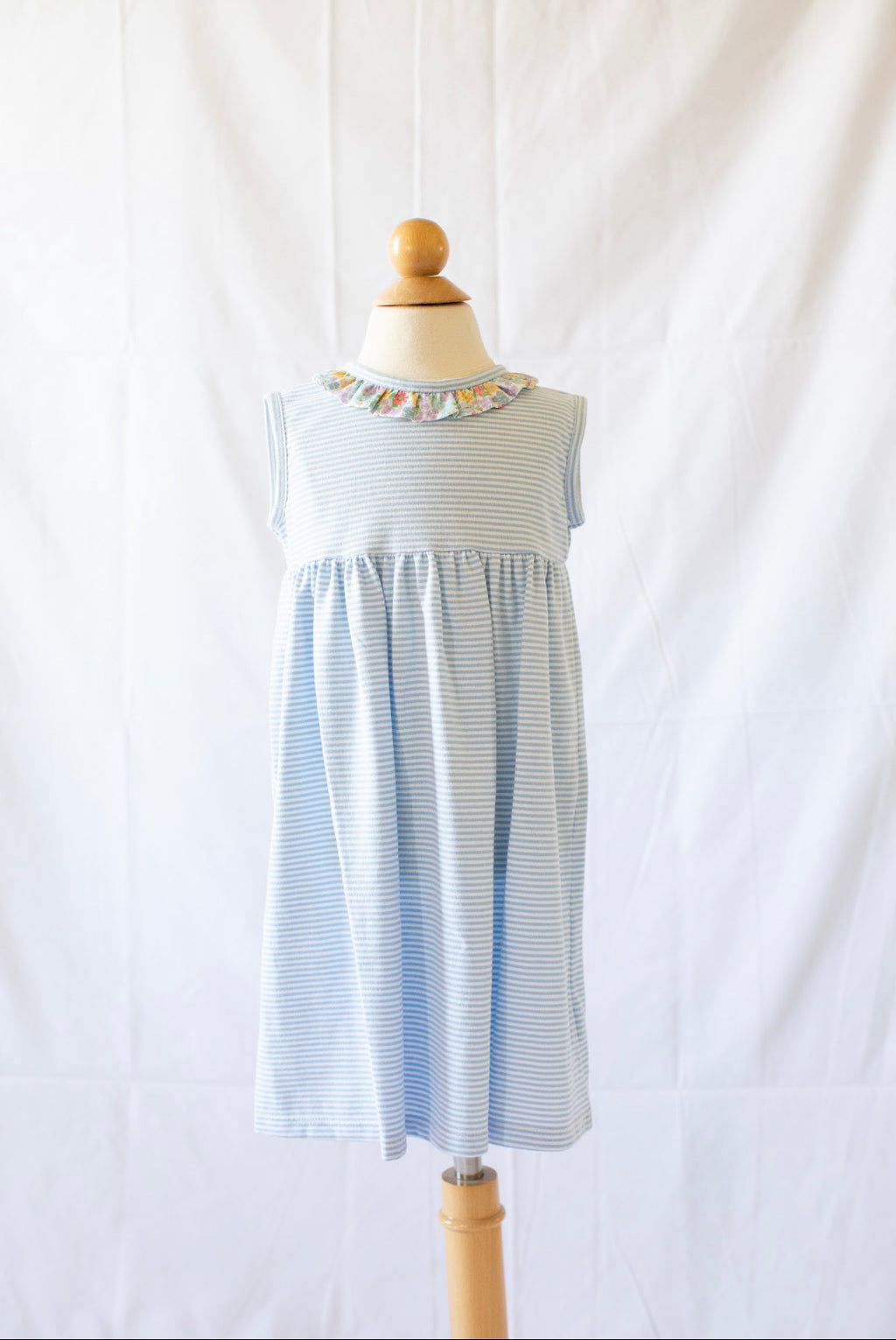 Cici Dress - Blue Candy Stripe - Born Childrens Boutique
