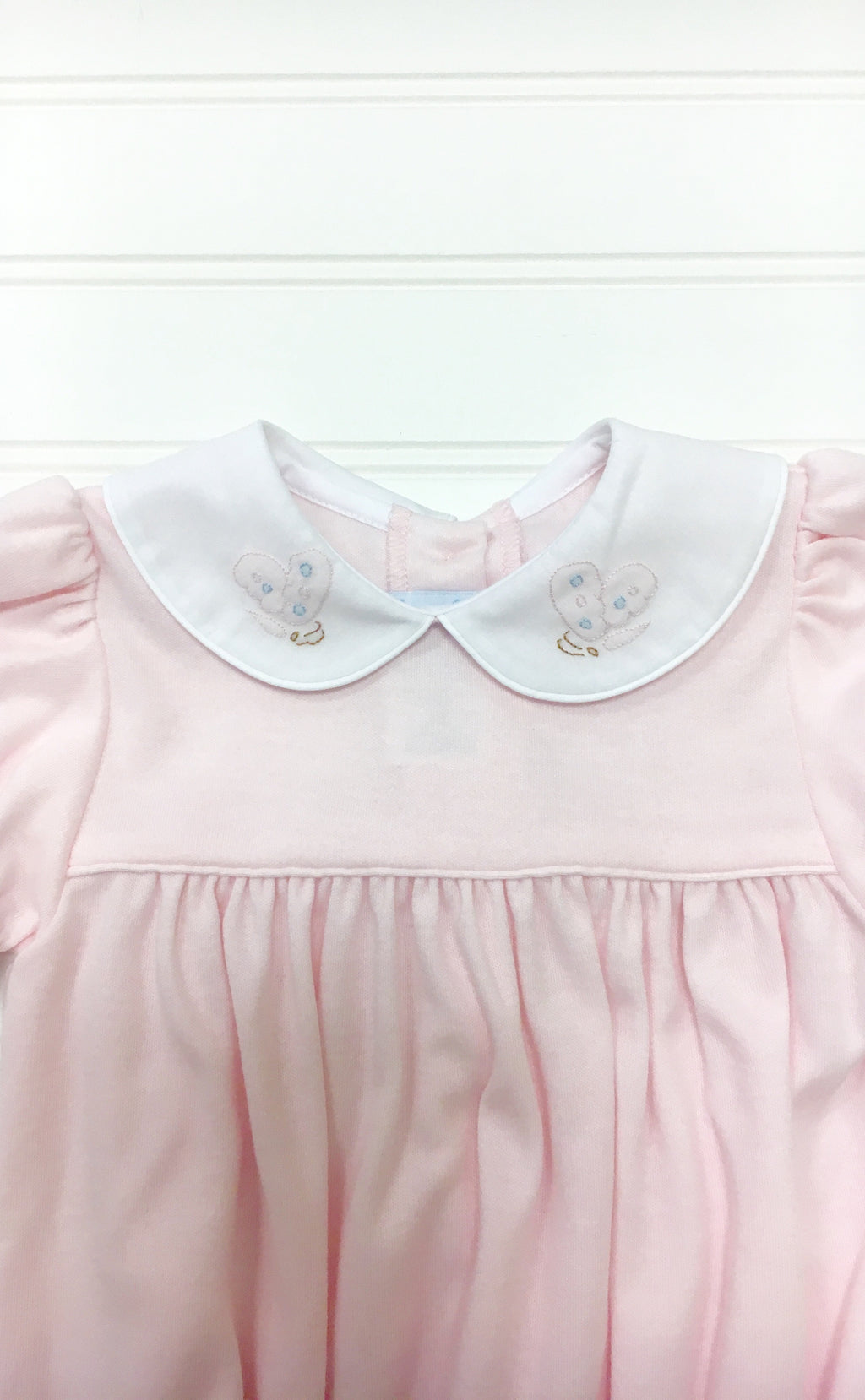 Auraluz Pink Knit Bubble with Butterfly - Born Childrens Boutique