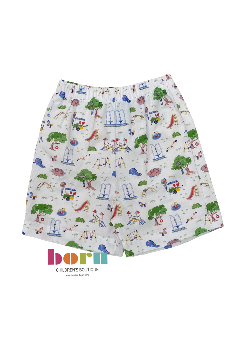 Boys Short - Playground Print - Born Childrens Boutique