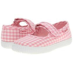 Cienta Kids Mary Jane Light Pink Gingham