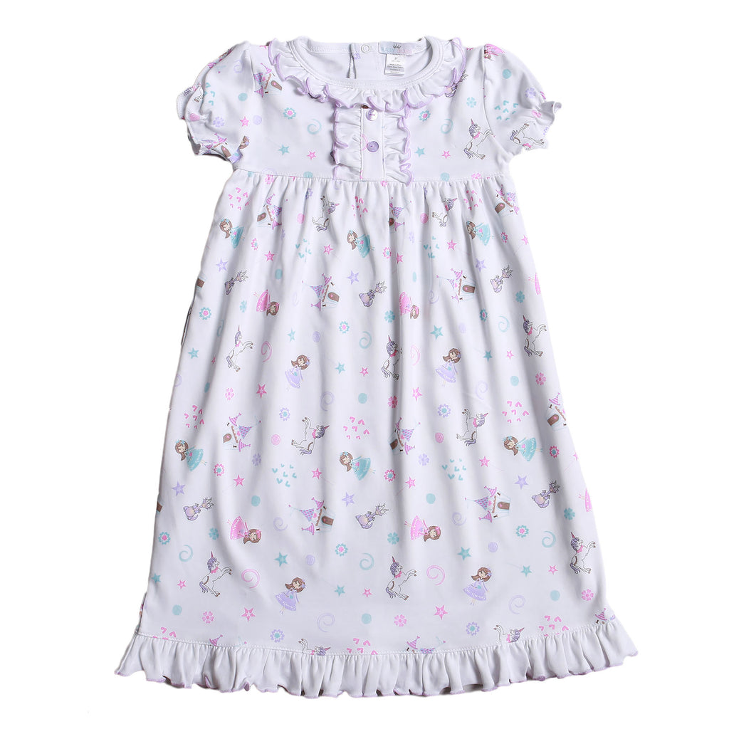 Princess And Castles Pima Nightgown - Born Childrens Boutique