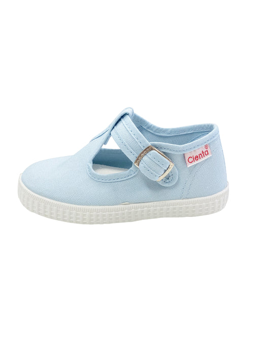Cienta Kids T-Strap Light Blue