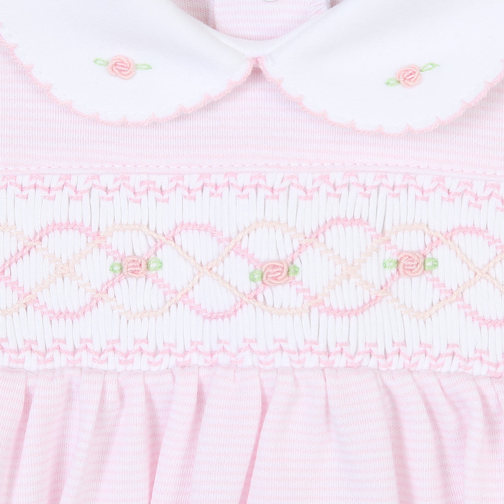 Claire and Clive's Classics Smocked Bubble - Pink - Born Childrens Boutique
