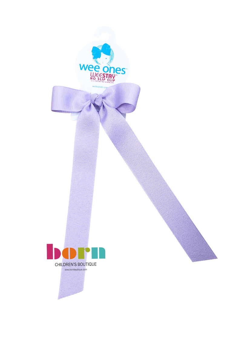 Wee Ones Light Orchid Bow with Tail
