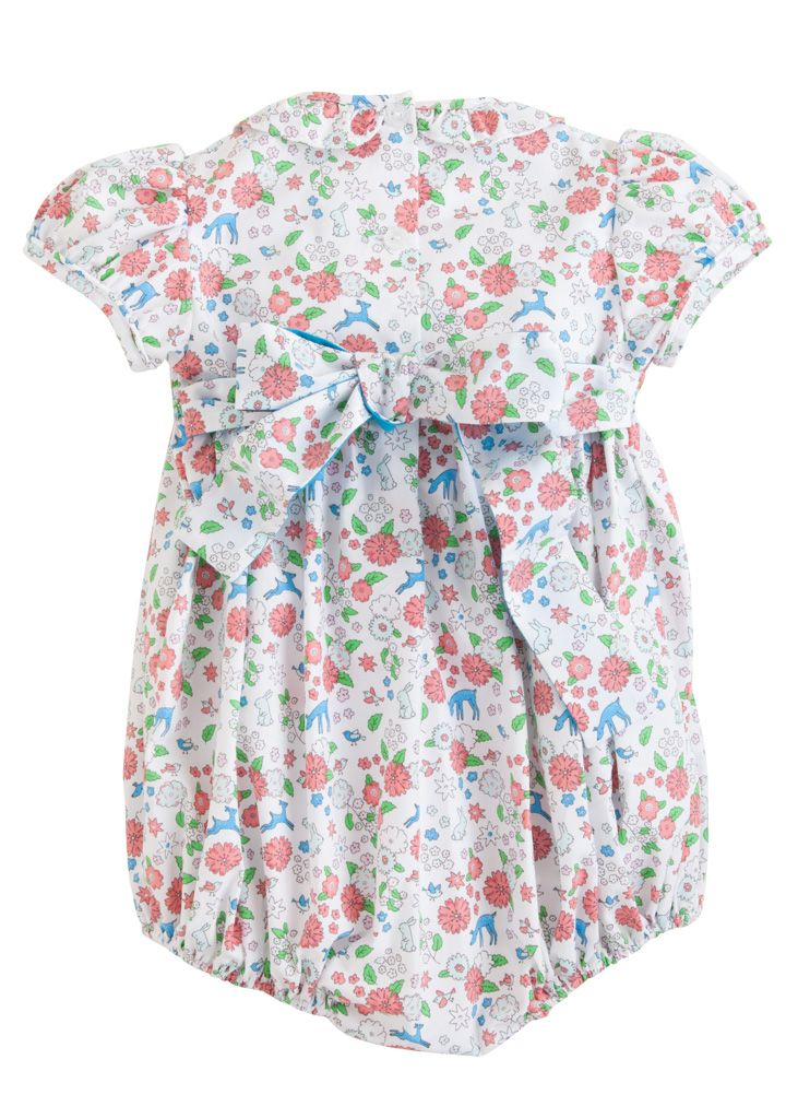 Smocked Caroline Bubble - Woodsy Floral