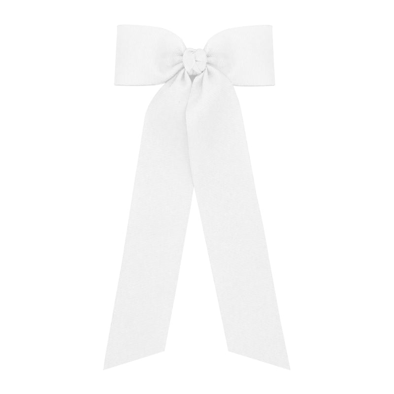 Wee Ones White Bow with Tail - Born Childrens Boutique