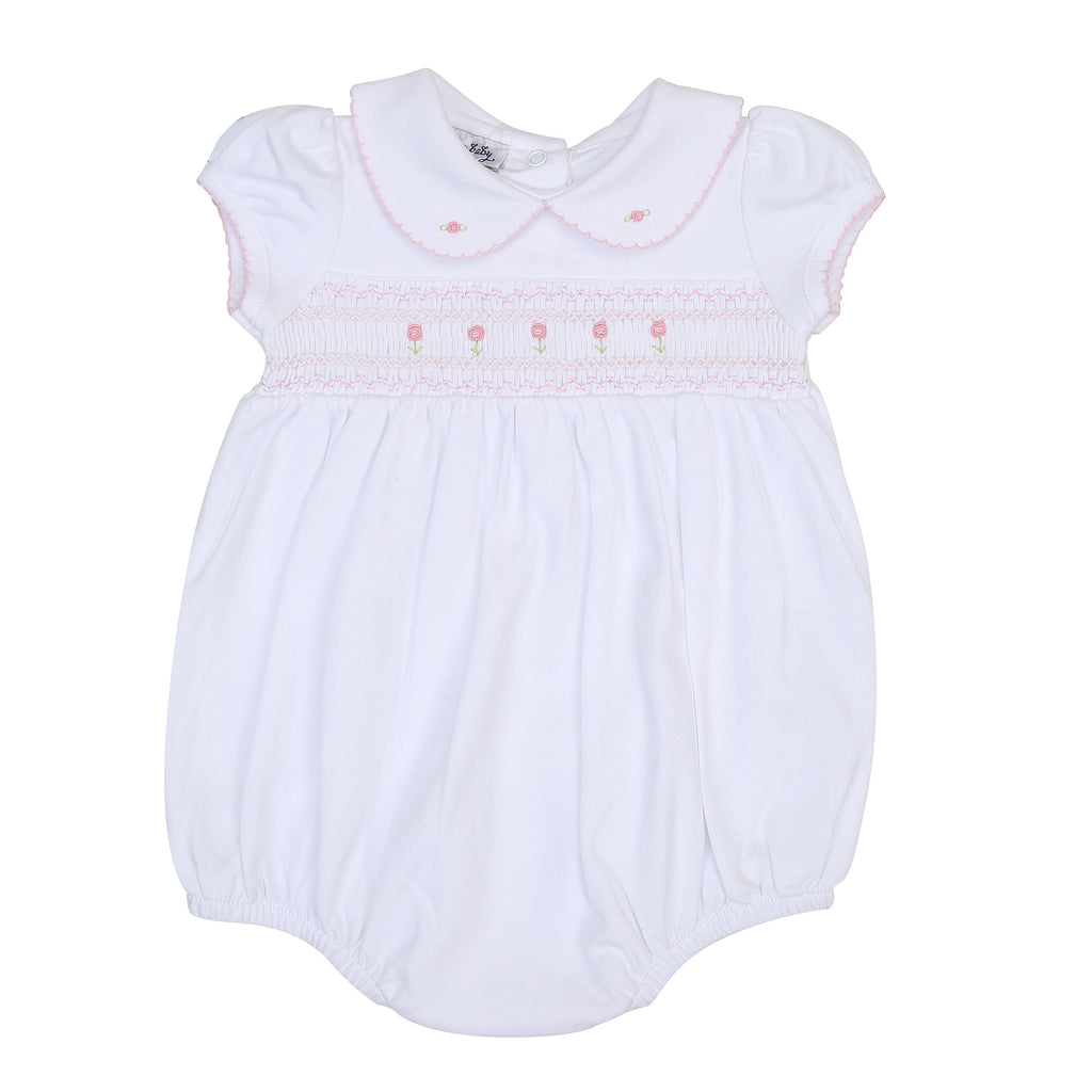 Becky and Ben's Classics Smocked Bubble Pink - Born Childrens Boutique