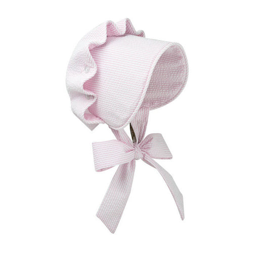 Beaufort Bonnet Breaker Savannah Pink Seersucker - Email to Order
