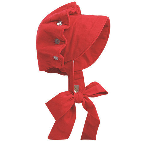 Beaufort Bonnet Richmond Red Cord - Email to Order - Born Childrens Boutique