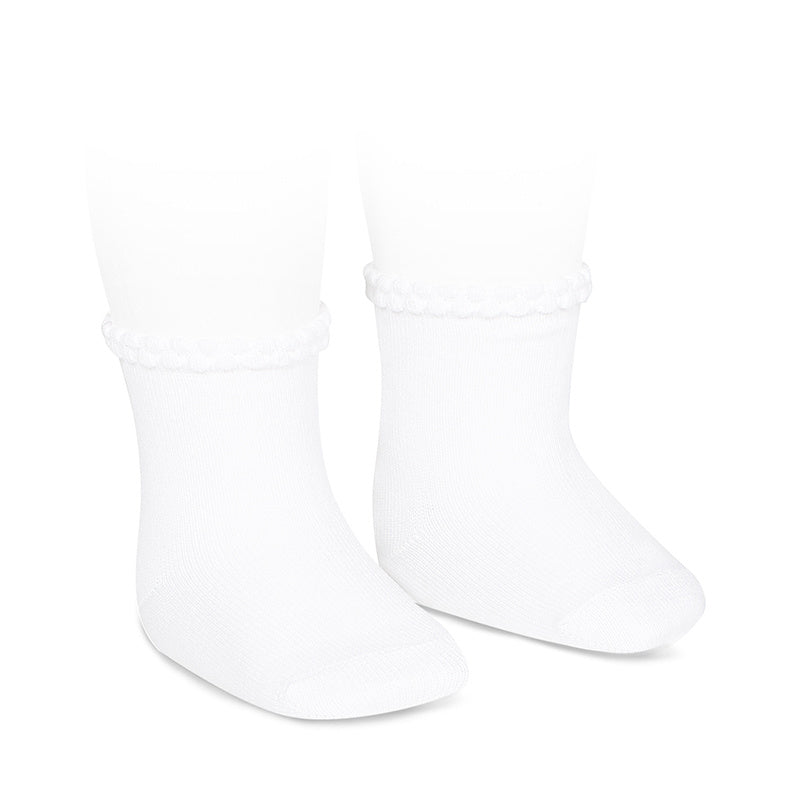 Purl Cuff Anklet Blanco (White) - Born Childrens Boutique