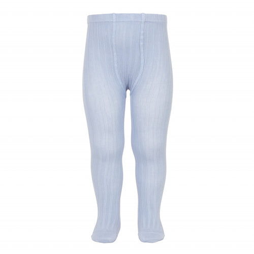 Ribbed Tights Light Blue