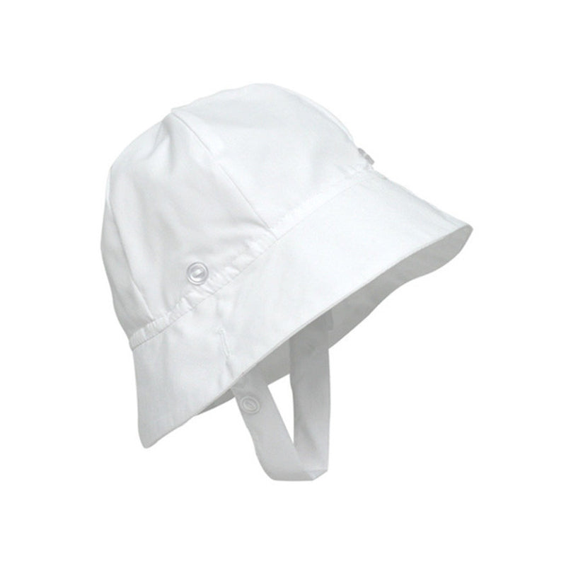 Beaufort Bonnet Bucket Worth Ave. White -  Email to Order - Born Childrens Boutique