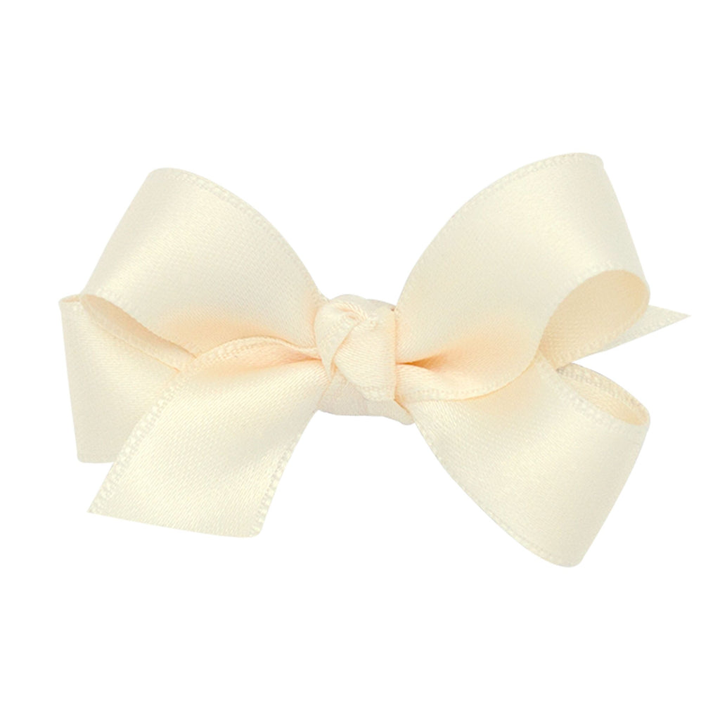 Wee Ones Satin Ecru Bow