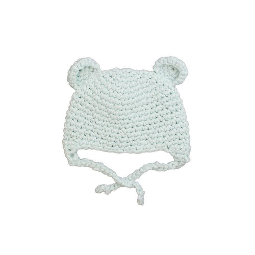 Blue Knit Bear Hat