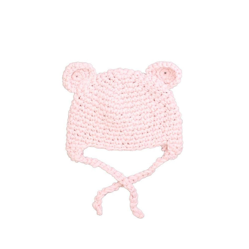 Pink Knit Bear Hat