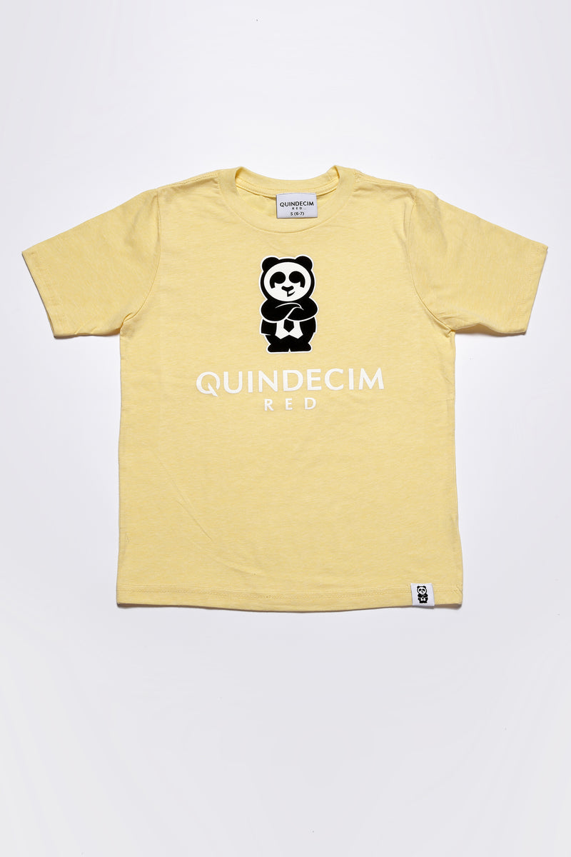 Boy's Signature Tee (Yellow) - Quindecim Red