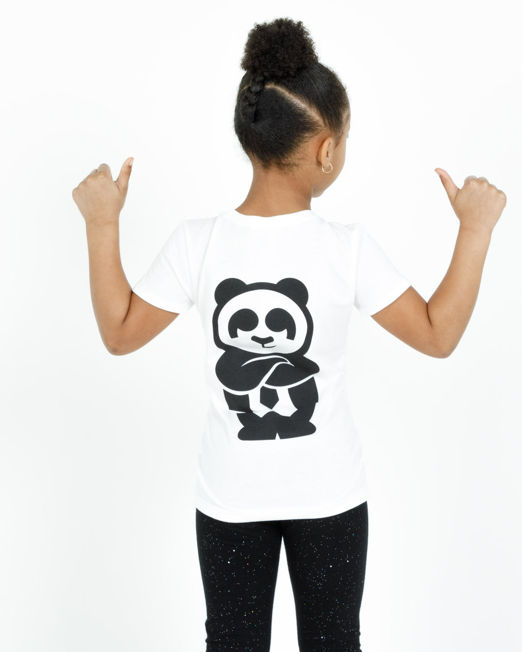 Girl's Giant Panda Fam Tee (White)