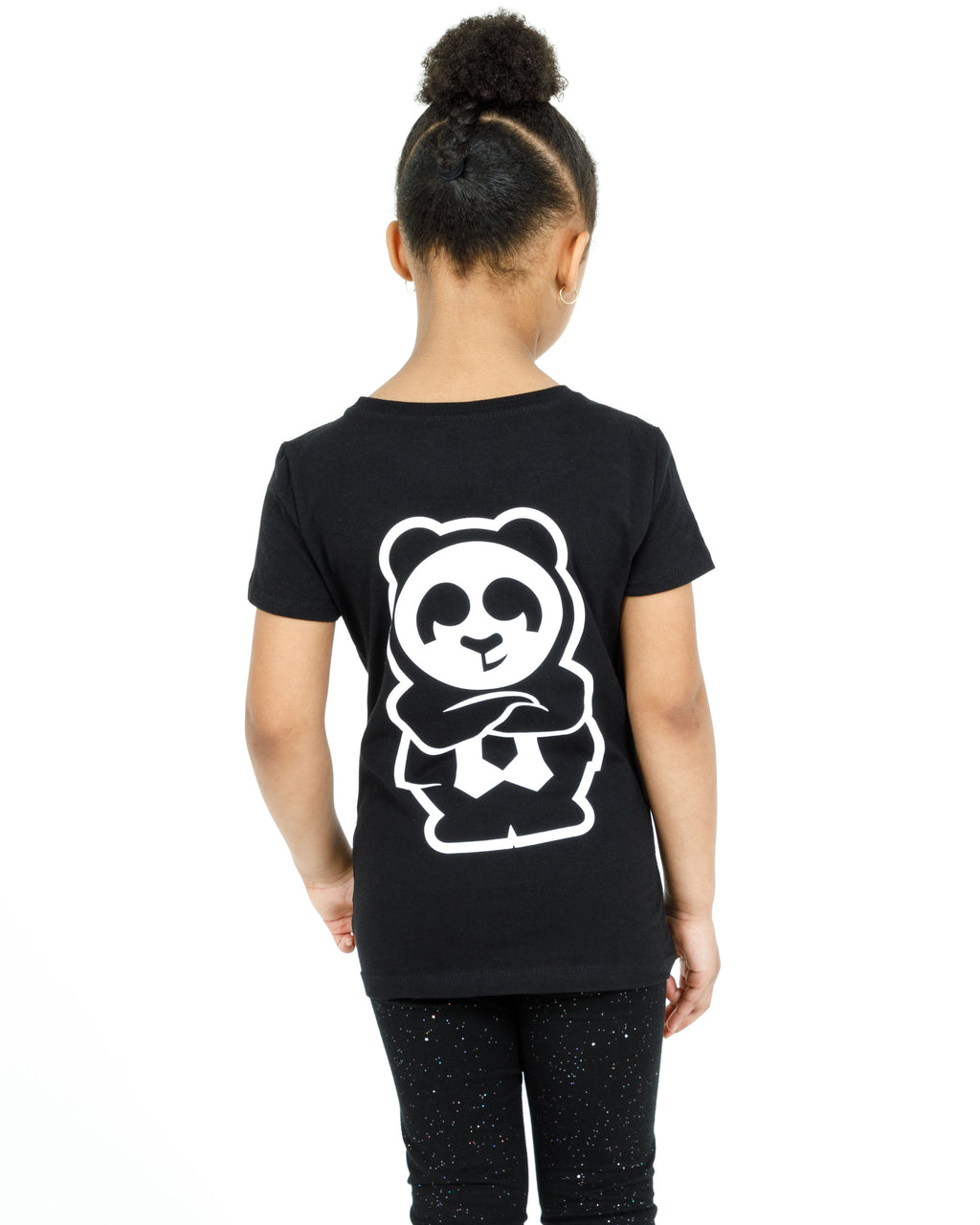 Girl's Giant Panda Fam Tee (Black)