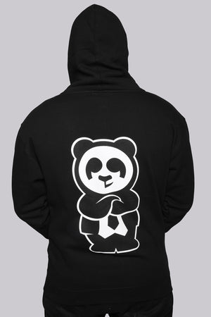 Giant Panda Fam Zip Hood (Black) - Quindecim Red