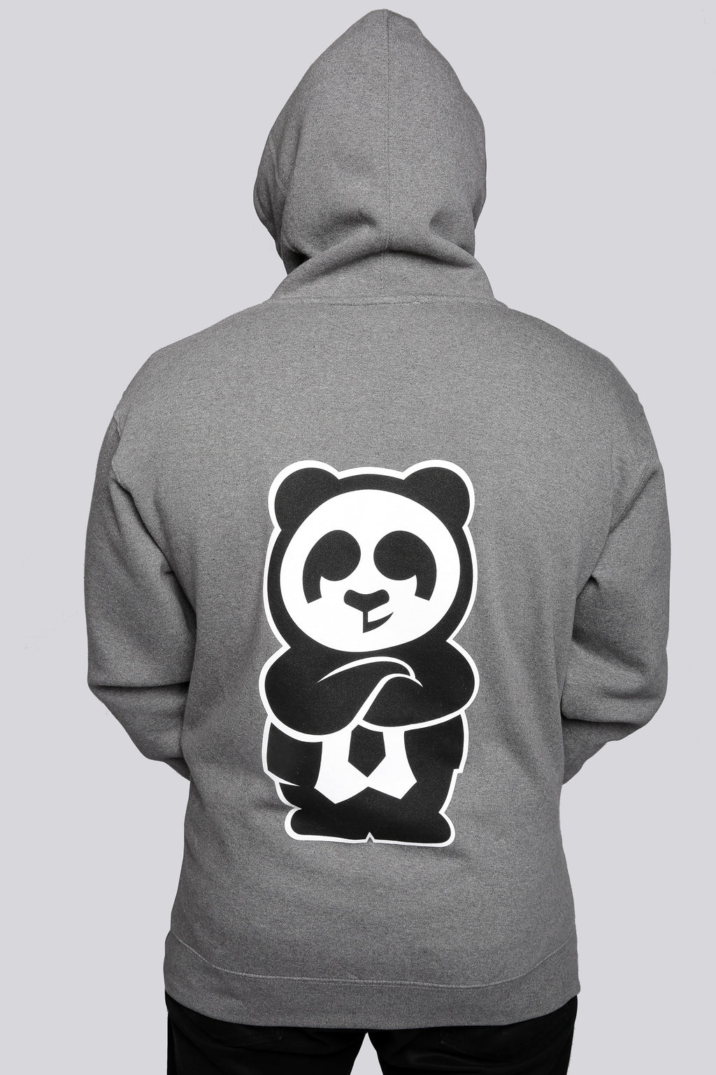 Giant Panda Fam Pullover Hood (Grey) - Quindecim Red