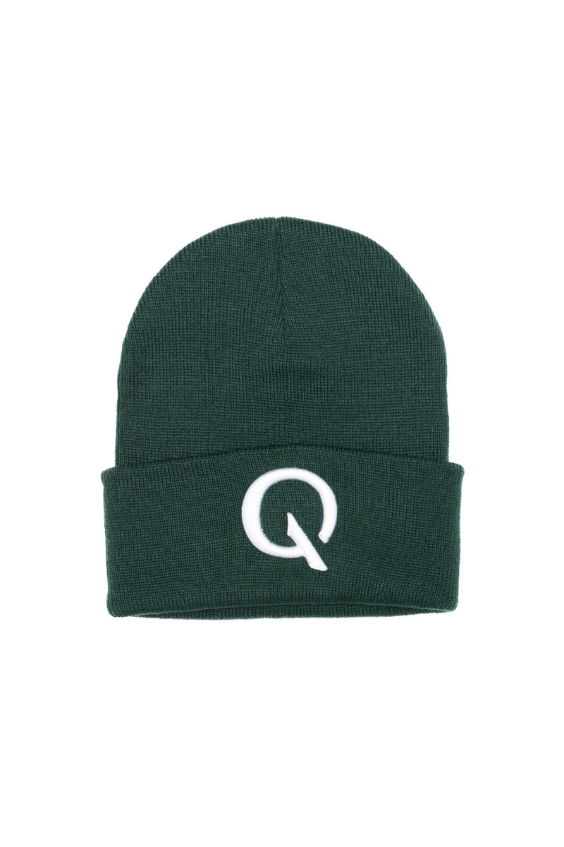 Break The Cycle Knit Cap (Forest) - Quindecim Red