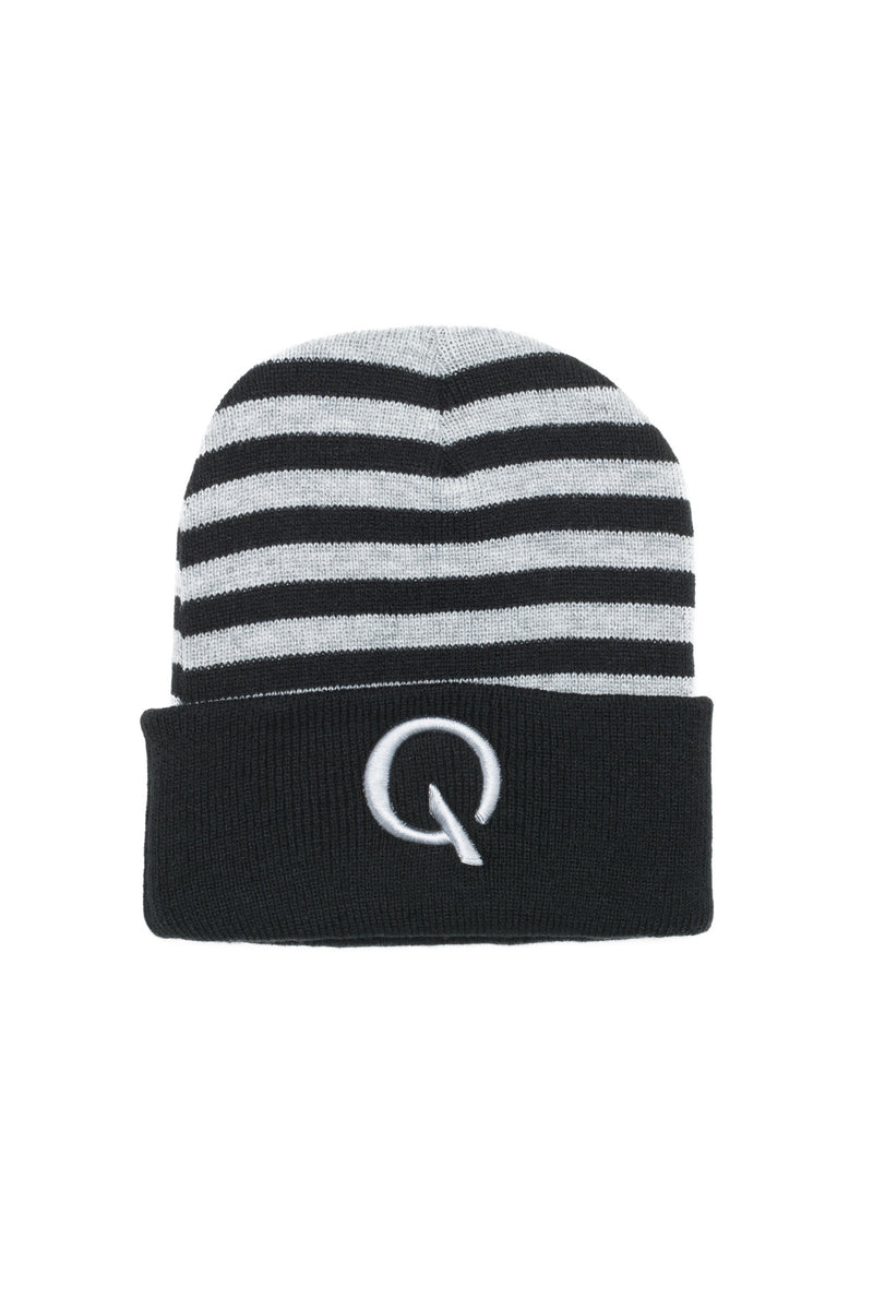 Break The Cycle Knit Cap (Heather/Black) - Quindecim Red