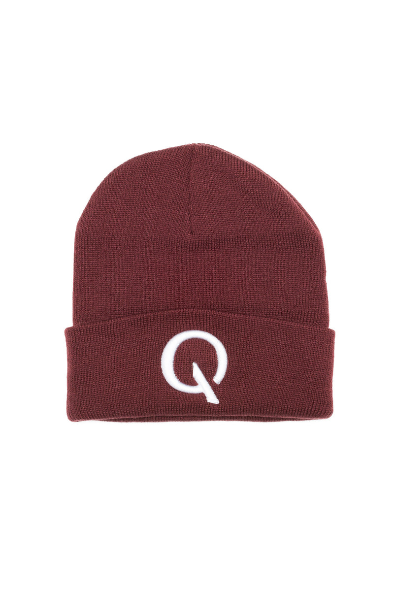 Break The Cycle Knit Cap (Maroon) - Quindecim Red