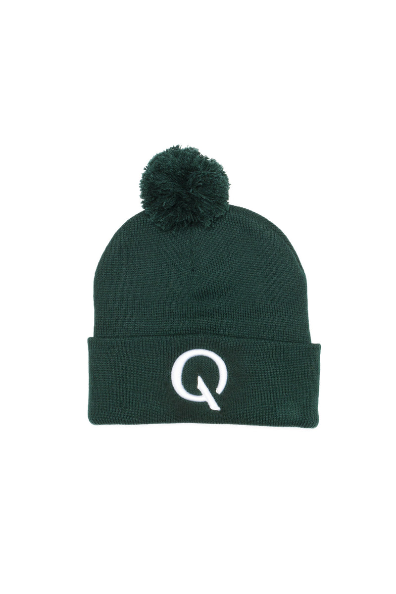 Broken Cycle Pom Pom Cap (Forest) - Quindecim Red